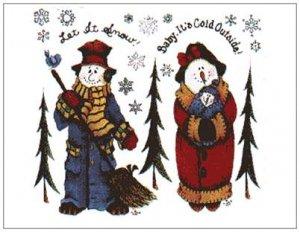 "Let It Snow, Babys It's Cold Outside Magnet - 5.47"" x 4.21"""