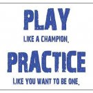 Play Like a Champion.  Practice Like You Want to Be One Magnet