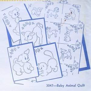 Hand Embroidered Dish Towels - Animal, Bunnies, French Poodle, Scotty Dogs, Owls, Rabbits, Kittens
