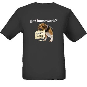 got homework? - Black T-shirt