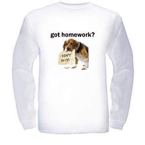 got homework? White Long Sleeved T-Shirt