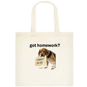 got homework? Small Tote Bag - Printing on one side