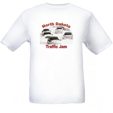North Dakota Traffic Jam - White t-shirt - Size Sm - XL