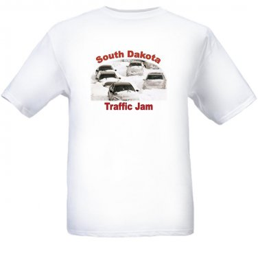 South Dakota Traffic Jam - White t-shirt - Size Sm - XL
