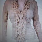 Womens Jr Miss Sexy club wear fringed top NWT S-XL