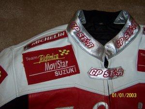 Suzuki Telefonica MoviStar GPSTAR Team leather jacket XL