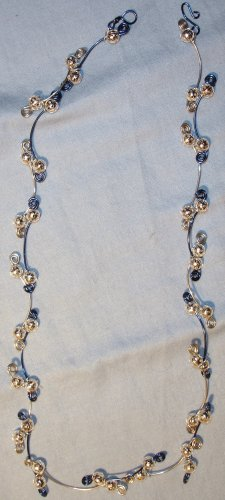 Beautiful Blue and Silver Swirl Necklace