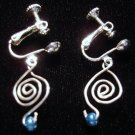 Silver Celtic Swirl Clip-on earrings