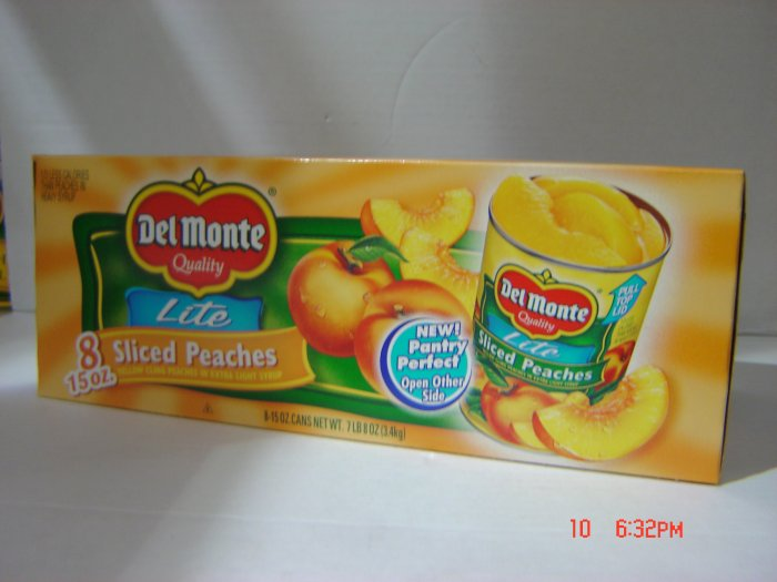 Peaches, Slices Lite    8 cans (0.94lbs., 425g. each) pack