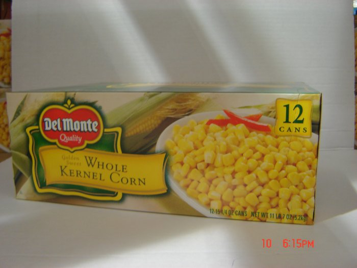 Corn, Whole Kernel  12 cans (0.96 lbs., 433g. each) pack