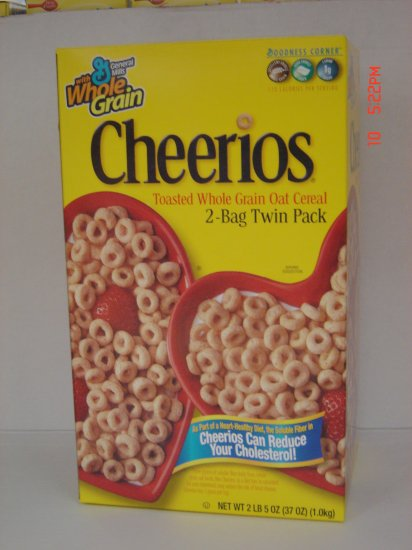 Cereal, Oat Cheerios  2 Bag (1.16 lbs., 525 g. each) Box