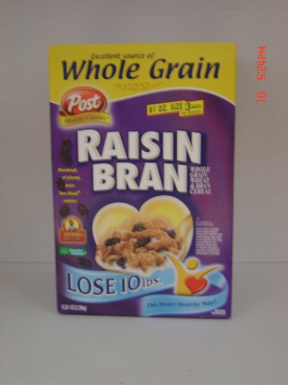 Cereal, Raisin Brand, 3 Bag (1.69lbs.,766g. each) Box