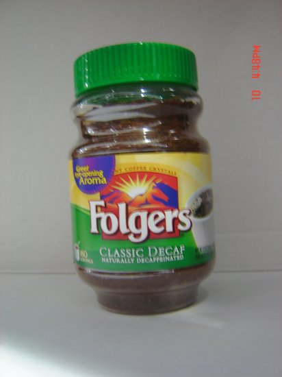 Coffee, Folgers Brand, Instant DeCaffeinated (0.75 lbs.,340 g.)
