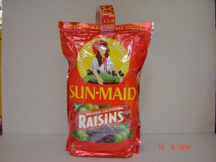 Raisins, 2 Bag (2.25lbs., 1018g. each) Pack