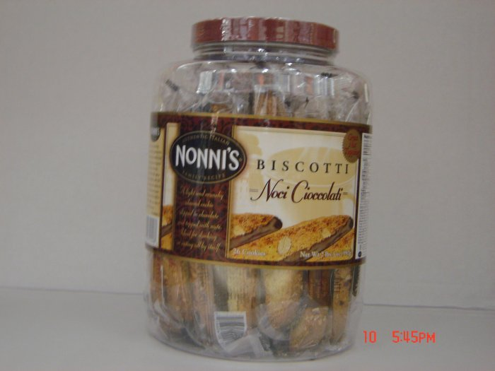 Cookies, Biscotti, 26 Individually Wrapped in Container (2.16lbs.)