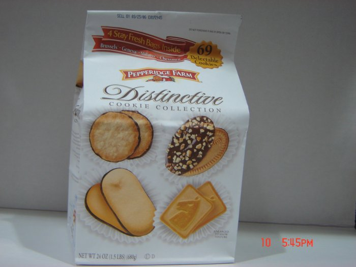 Cookies, Pepperidge Farm, 4 Pack (0.38lbs.,170g. ea.) Variety