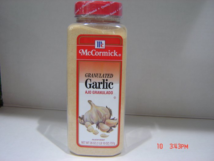 Garlic, Granulated   1.63 lbs., 740 grams Bottle