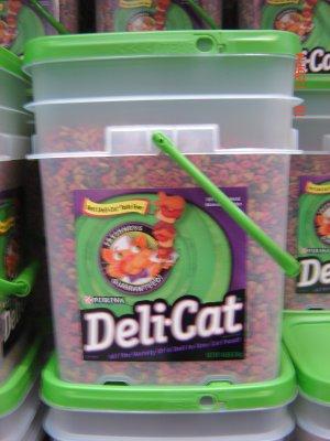 """Cat Food, """"Deli Cat""""  14.0 lbs., 6350 gram Container"""