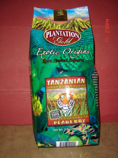 Coffee, 100 Percent Tanzanian, Plantation Gold (2.0 lbs., 908 g.)
