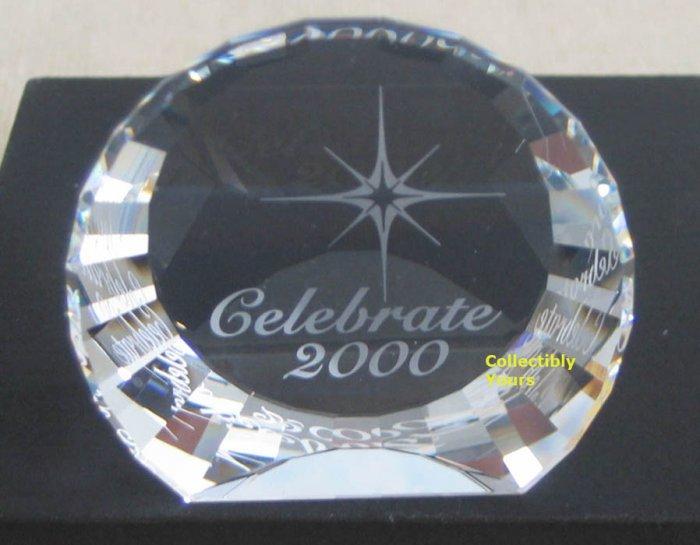 Swarovski Crystal CELEBRATE 2000 Millennium paperweight,limited edition
