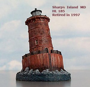 NEW Harbour Lights SHARPS ISLAND, HL185, limited edition, retired