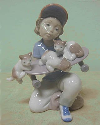Lladro LITTLE RIDERS, 7623, 1994 Limited Event Figurine