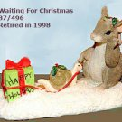 Charming Tails WAITING FOR CHRISTMAS, 87/496, retired, MIB
