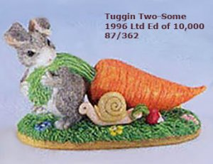 Charming Tails, TUGGIN TWO-SOME,  87/362, 1996 Limited Edition, MIB