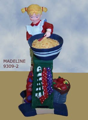 All Through The House MADELINE MAKING COOKIES, 93092, Department 56, retired, MIB