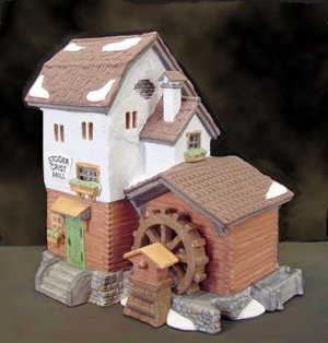 Department 56 Alpine STODER GRIST MILL 59536, retired in 1997,  orig. $45, MIB