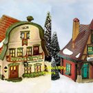 Department 56 Alpine Shops METTERNICHE & KUKUCK UHREN, set of 2, 56189, retired in 1997,   MIB