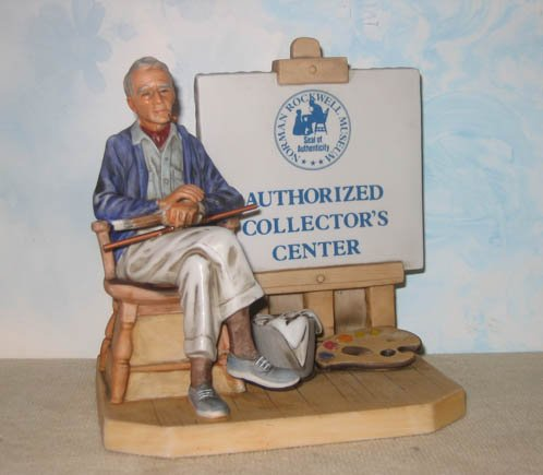 Norman Rockwell AUTHORIZED DEALER DISPLAY,  limited edition, porcelain, retired