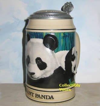 Anheuser Busch GIANT PANDA STEIN,  Budweiser Endangered Species, CS173 NEW