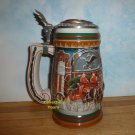 Anheuser Busch 1997 BUDWEISER HOLIDAY STEIN, Home For The Holidays, HAND SIGNED, Lidded,  NEW