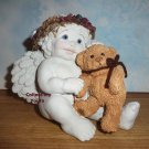 Dreamsicles SNUGGLE BUDDIES, DC017, Cherub and Teddy, Kristin Haynes, retired 1997, MIB
