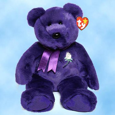 "NEW (6) Ty Beanie Buddies PRINCESS DIANA The Purple Bear, 9329,  11"" h"