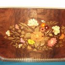 Sorrento Marquetry Inlaid Inlay Wood Tray Italy Floral