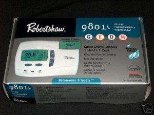 Robertshaw 9801i  HUMIDITY Thermostat 1H 1C GAS /  ELECT / OIL /  HEAT PUMP