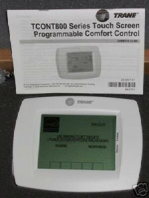 Trane XL800 TCONT800AS11AAA Touch Screen Thermostat NEW