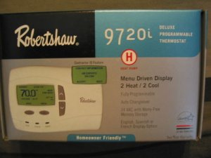 Robertshaw 9720i Deluxe Programmable Heat Pump Thermostat 2h 2C