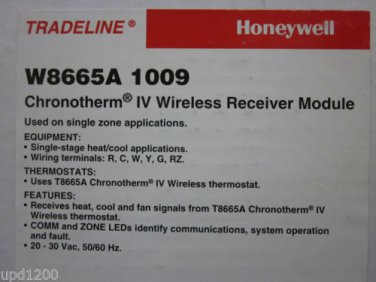 HONEYWELL RF ZONE PANEL W8665A1009 W8665A 1009