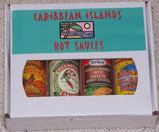 4 Pack Gift Box - Caribbean Islands Hot Sauce