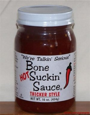 Bone Suckin' Hot BBQ Barbecue Sauce - Thicker Style 16oz