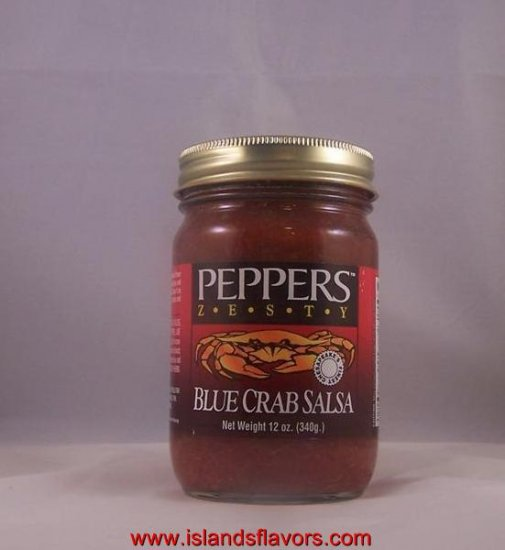 PEPPERS ZESTY Blue Crab Salsa 12oz Jar