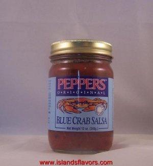 PEPPERS Original Blue Crab Salsa 12oz Jar