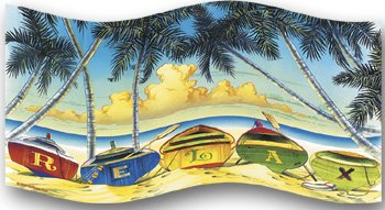 Tropical Beach Towel Relax 32x64