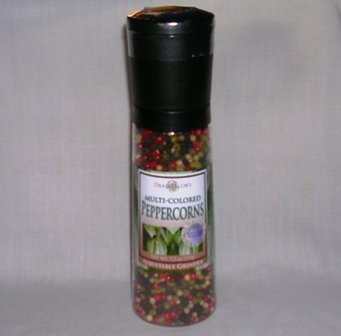 Dean Jacob's Peppercorns Adjustable Grinder Colored