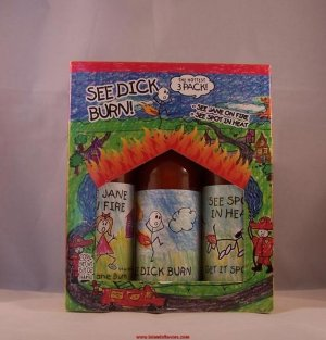 See Dick Burn Gift Set Hot Sauce The Hottest 3 Pack