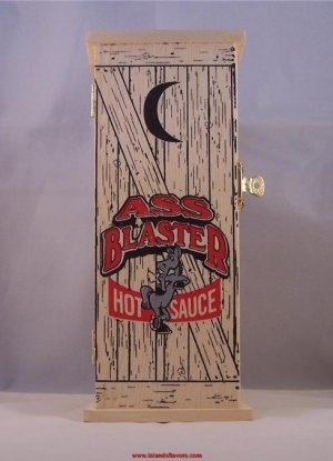 Ass Blaster Hot Sauce - In A Wood Box Outhouse