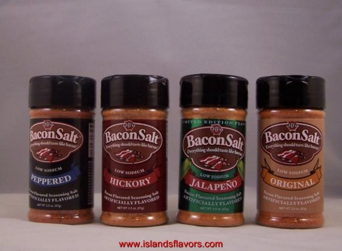 J&D's Bacon Salt Set of 4- 2oz  Low Sodium